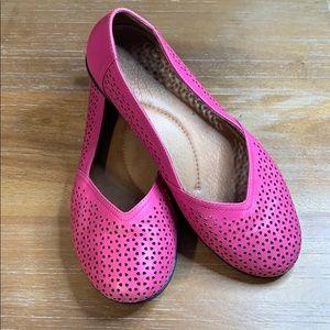 Dansko Neely Pink Laser Cut Out Ballet Flat 7
